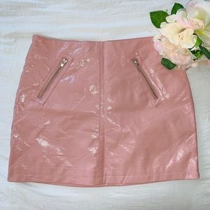 Pleather Pink Mini Skirt💕